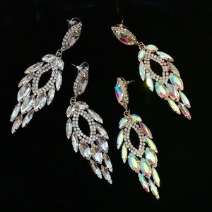 """Earrings """"Delicate Chandeliers"""" Sparkly Reflective"""